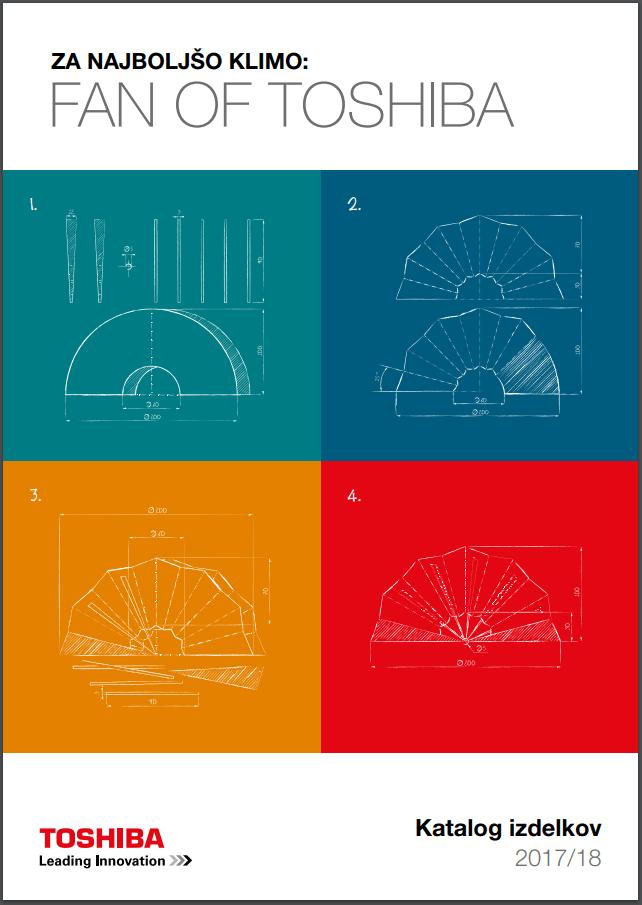 Katalog klimackih naprav in toplotnih crpalk TOSHIBA